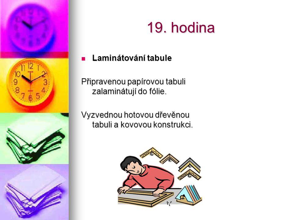 19. hodina Laminátování tabule