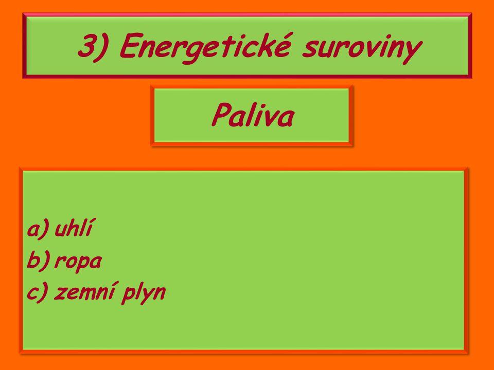 3) Energetické suroviny