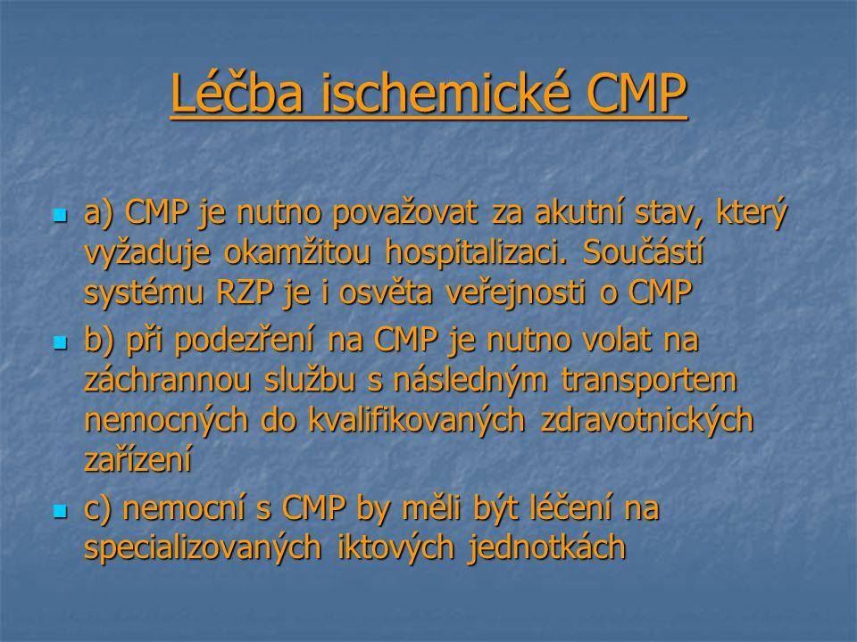 Léčba ischemické CMP