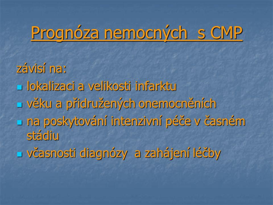 Prognóza nemocných s CMP