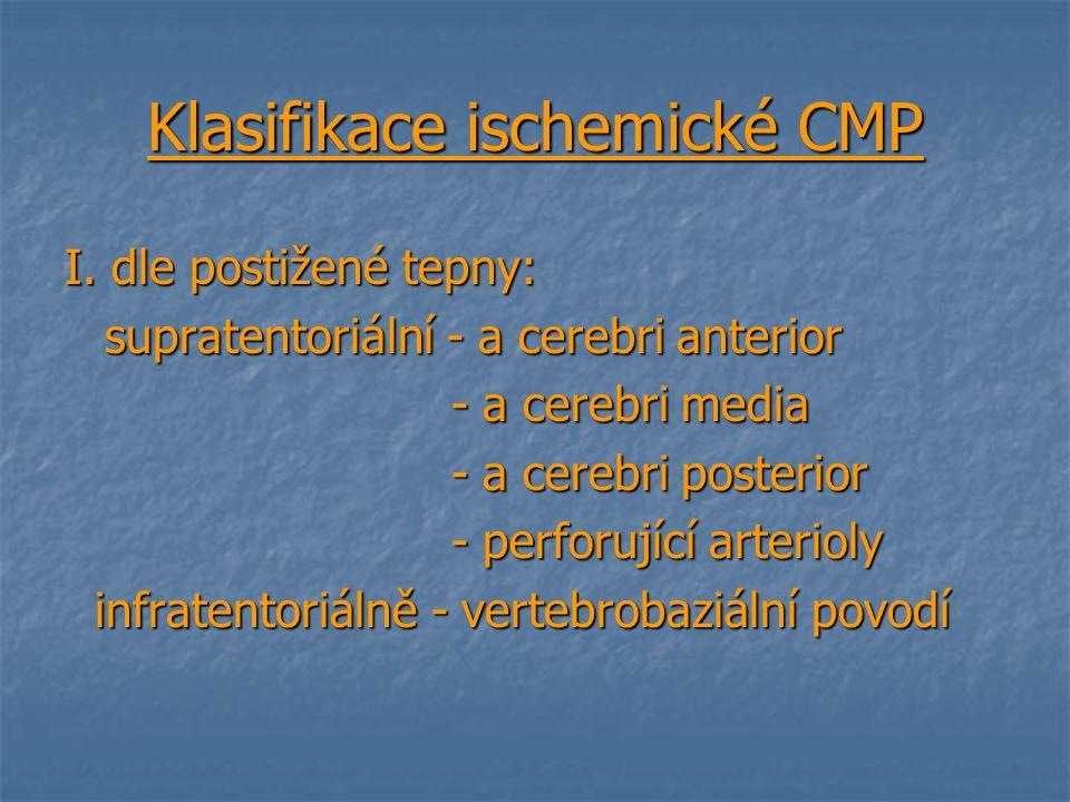 Klasifikace ischemické CMP
