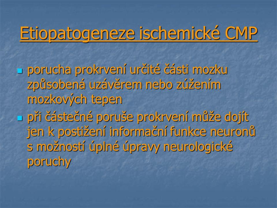 Etiopatogeneze ischemické CMP
