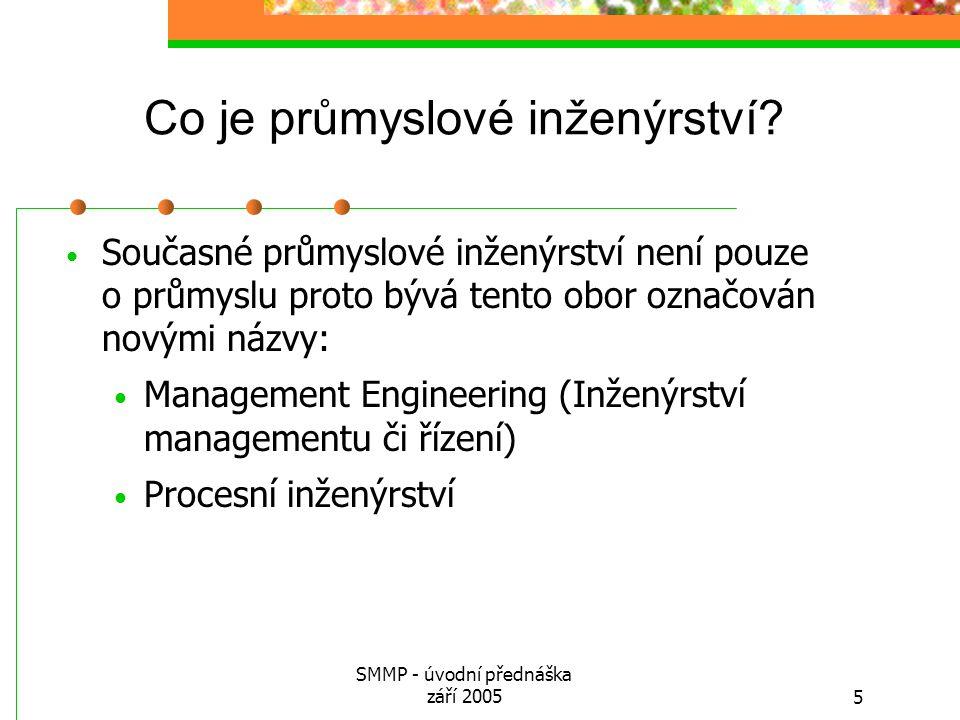 Co je průmyslové inženýrství