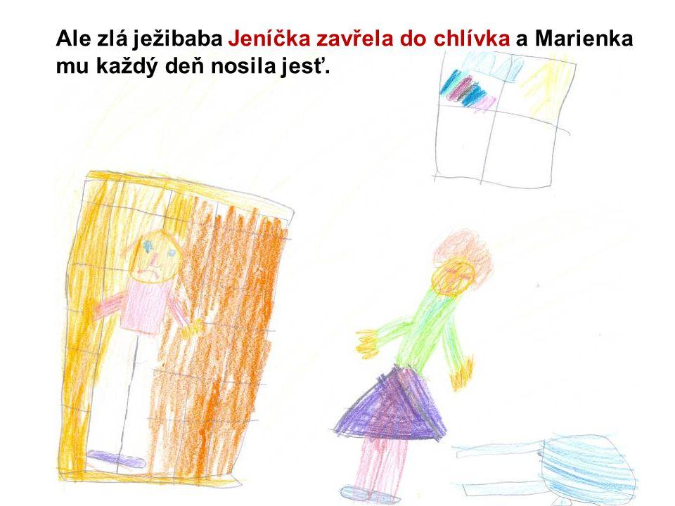 Ale zlá ježibaba Jeníčka zavřela do chlívka a Marienka