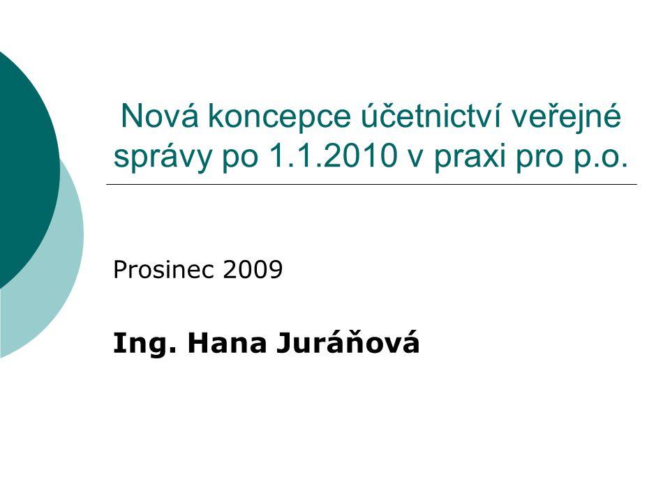 Nová koncepce účetnictví veřejné správy po 1.1.2010 v praxi pro p.o.