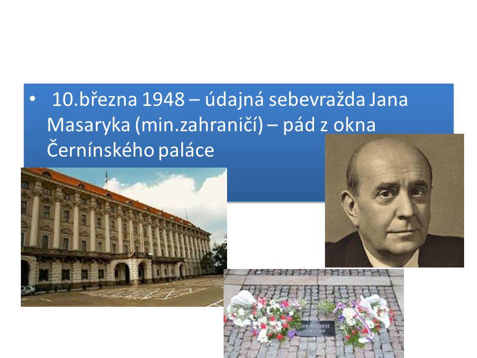 10. března 1948 – údajná sebevražda Jana Masaryka (min