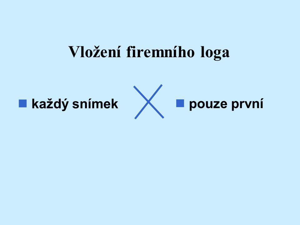 Vložení firemního loga