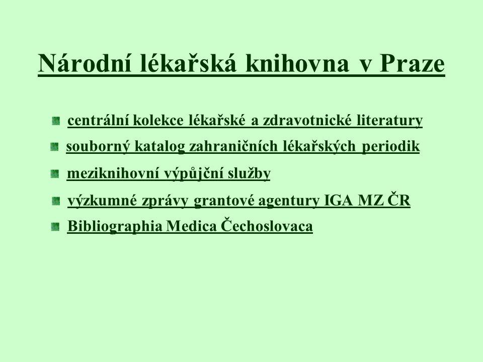 Národní lékařská knihovna v Praze