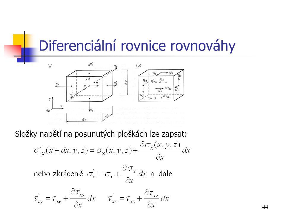 Diferenciální rovnice rovnováhy