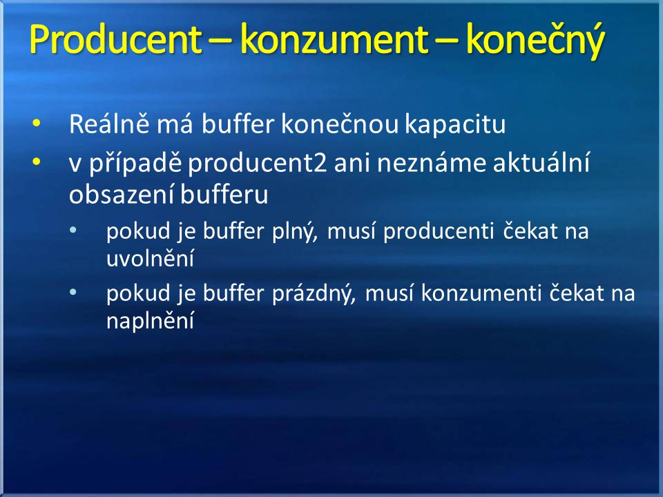 Producent – konzument – konečný