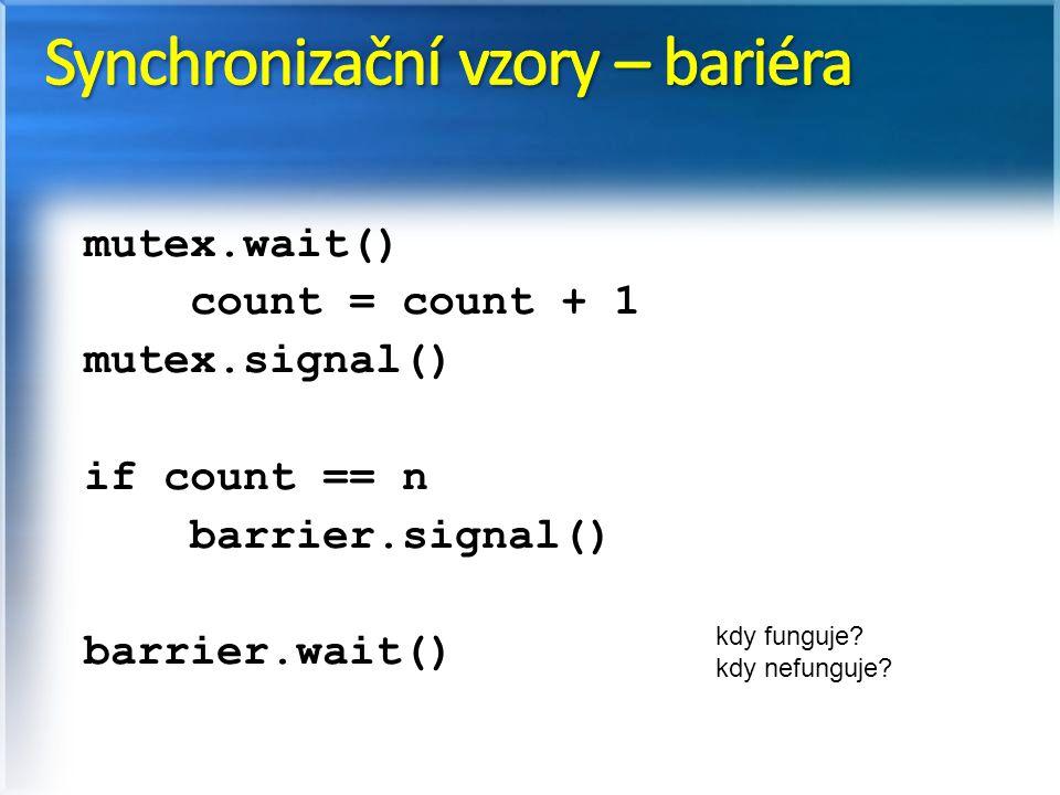 Synchronizační vzory – bariéra