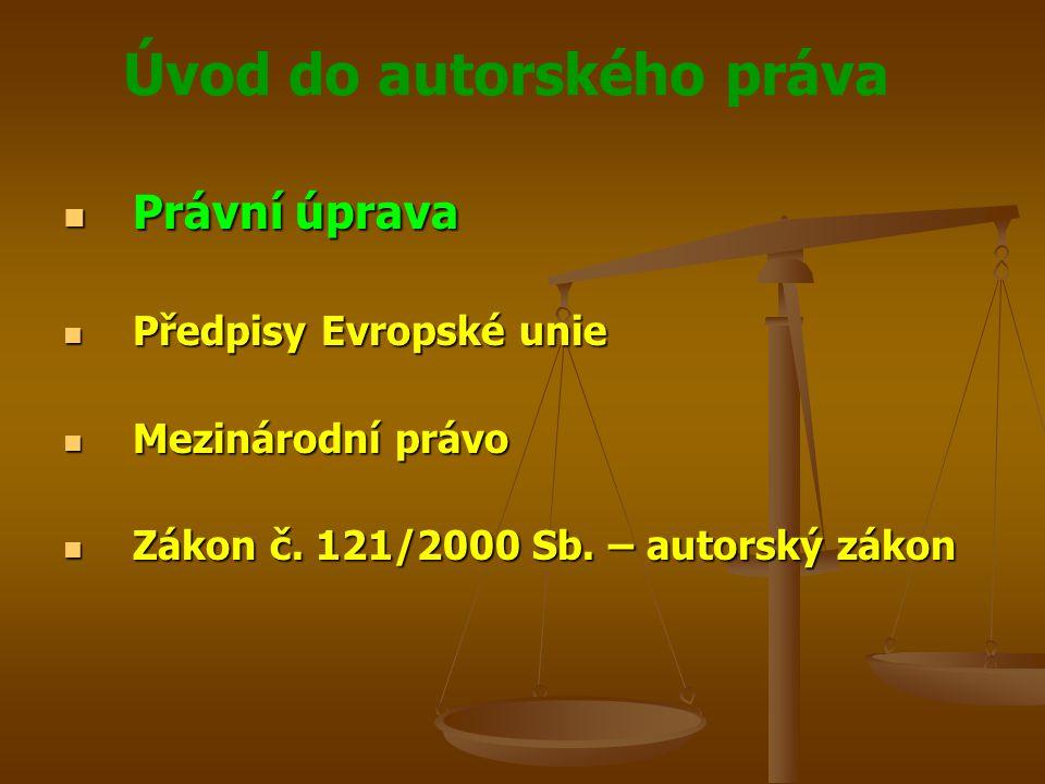 Právní úprava Předpisy Evropské unie Mezinárodní právo