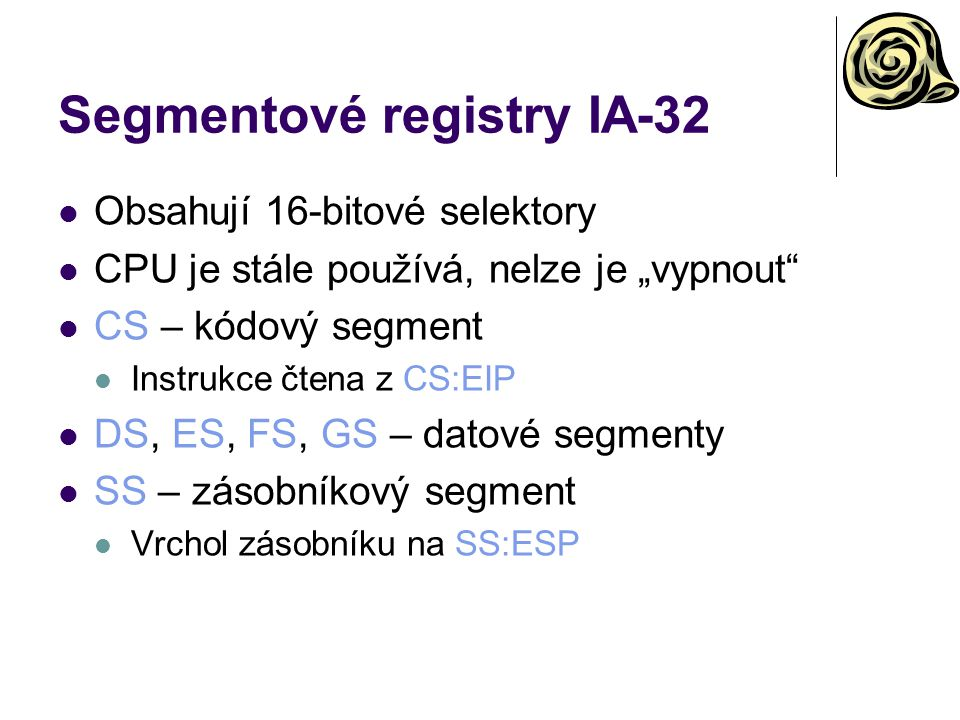 Segmentové registry IA-32