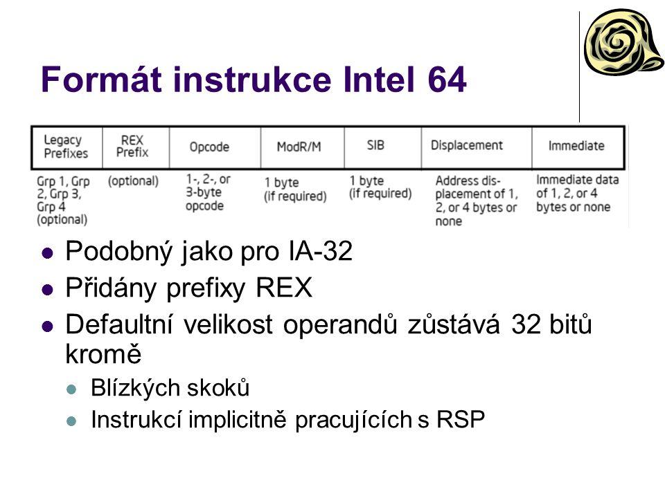 Formát instrukce Intel 64