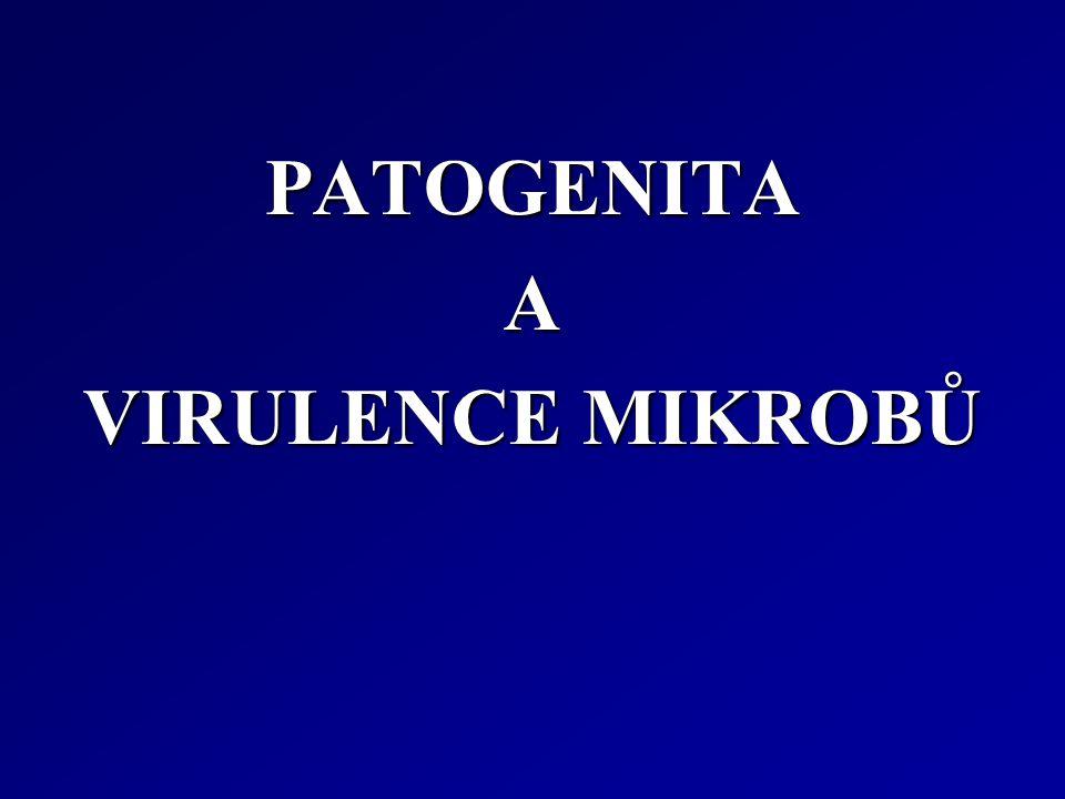 PATOGENITA A VIRULENCE MIKROBŮ