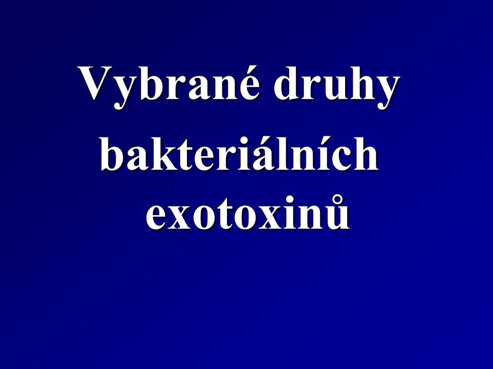 bakteriálních exotoxinů