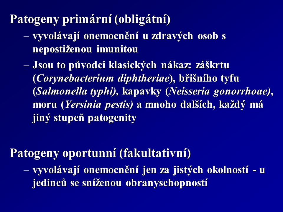 Patogeny primární (obligátní)