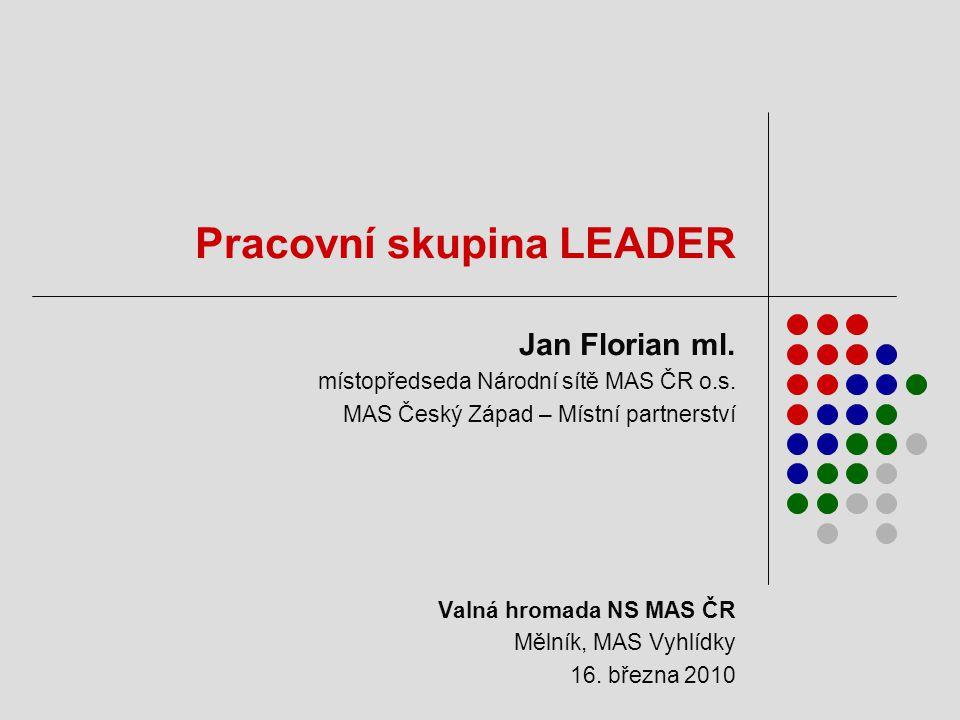 Pracovní skupina LEADER