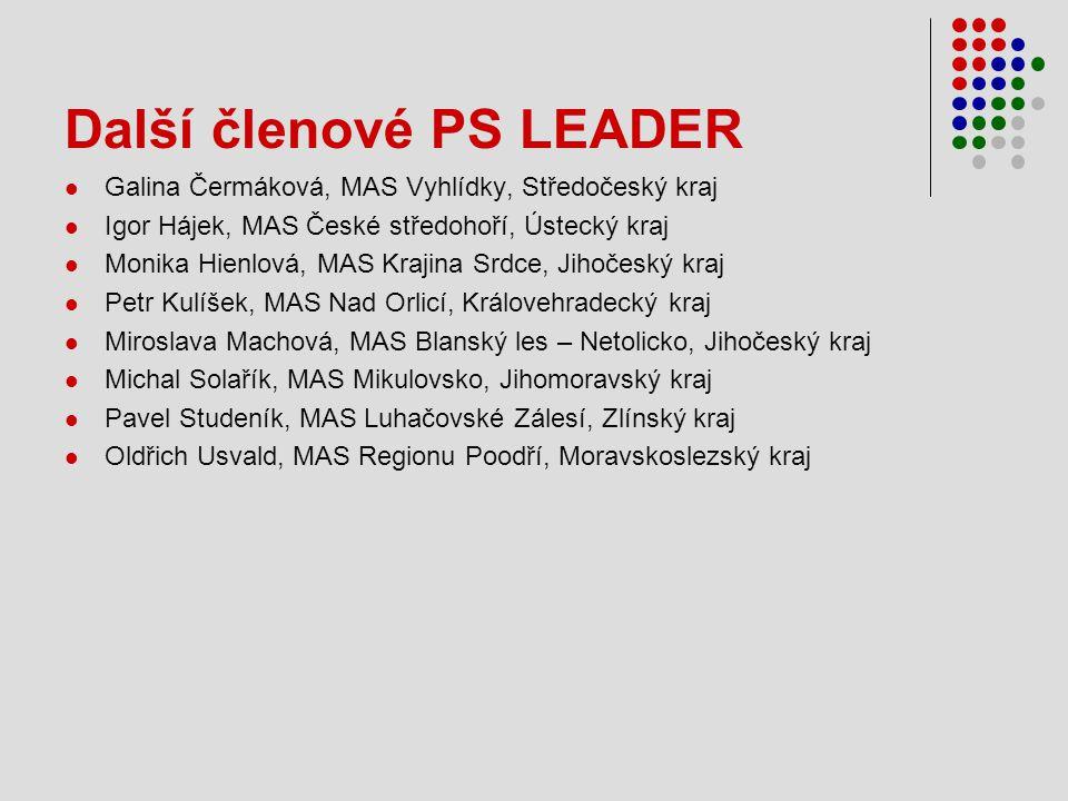Další členové PS LEADER