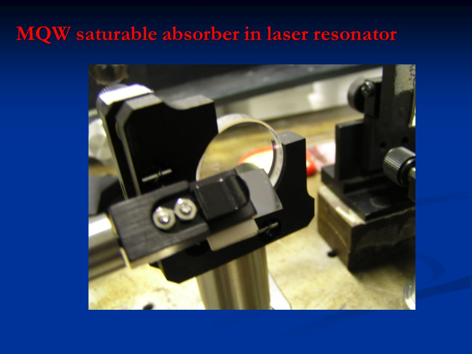 MQW saturable absorber in laser resonator
