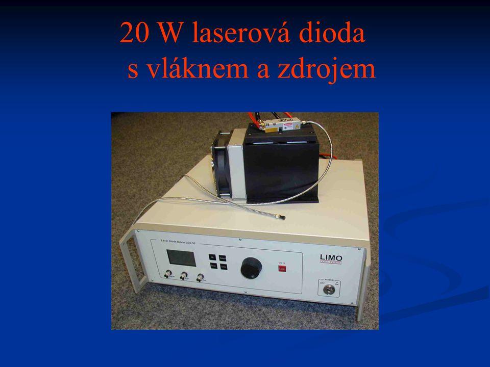 20 W laserová dioda s vláknem a zdrojem