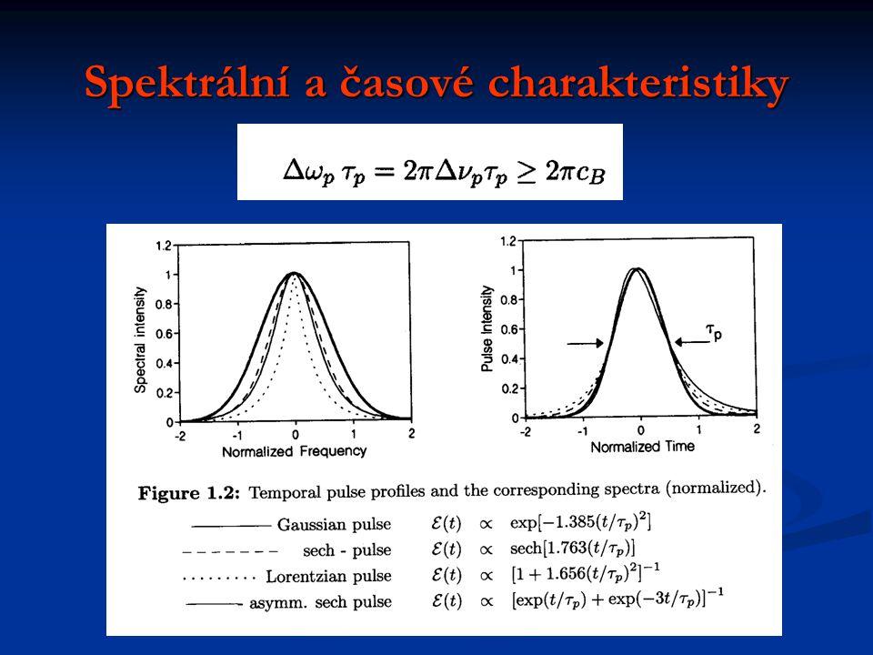 Spektrální a časové charakteristiky