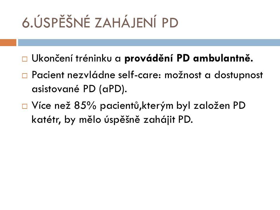 6.ÚSPĚŠNÉ ZAHÁJENÍ PD Ukončení tréninku a provádění PD ambulantně.
