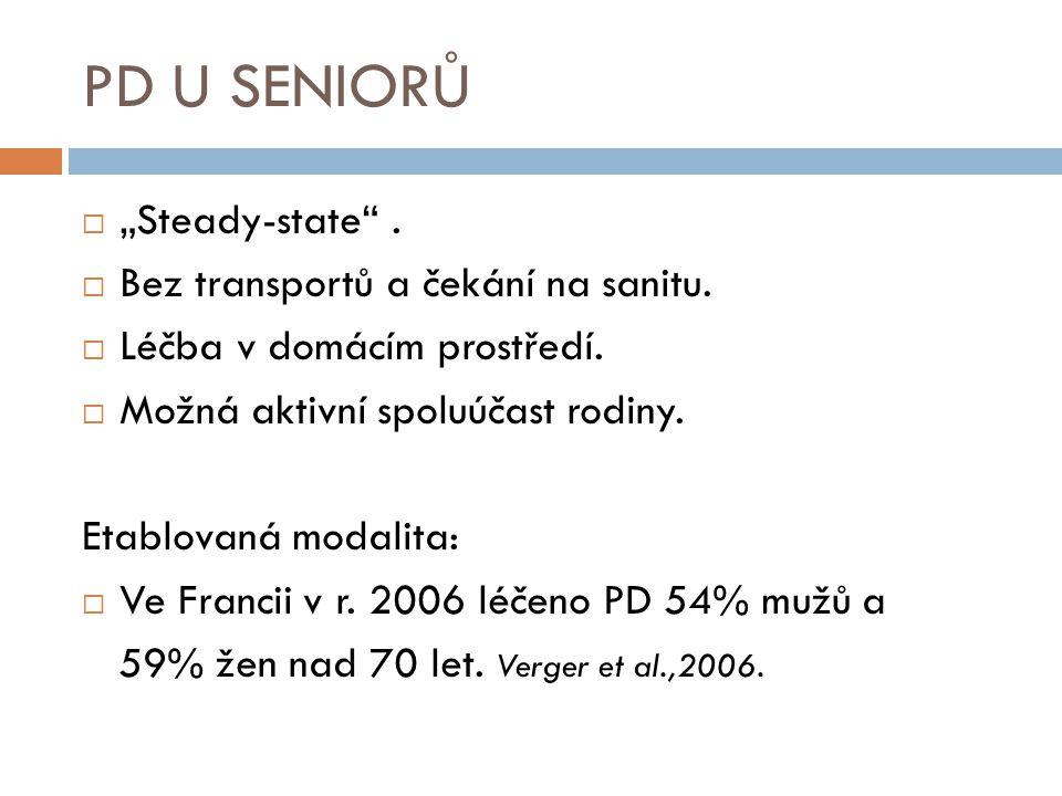 """PD U SENIORŮ """"Steady-state . Bez transportů a čekání na sanitu."""