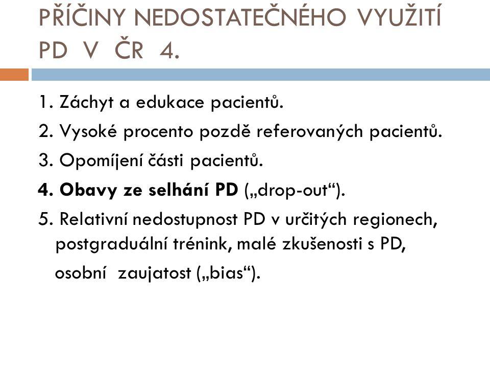 PŘÍČINY NEDOSTATEČNÉHO VYUŽITÍ PD V ČR 4.