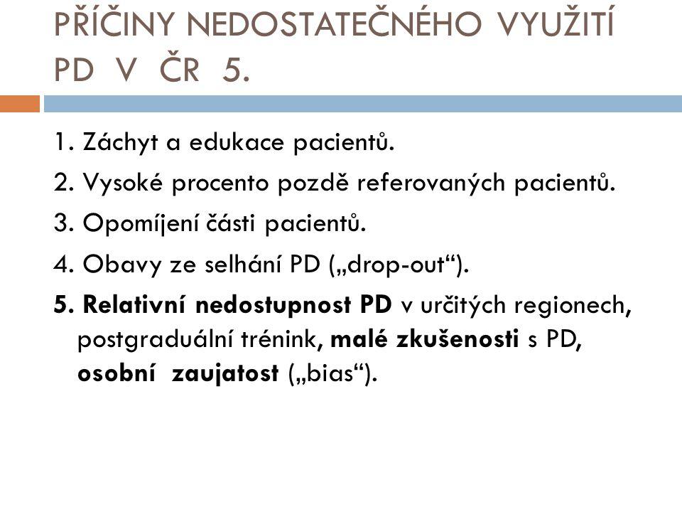 PŘÍČINY NEDOSTATEČNÉHO VYUŽITÍ PD V ČR 5.