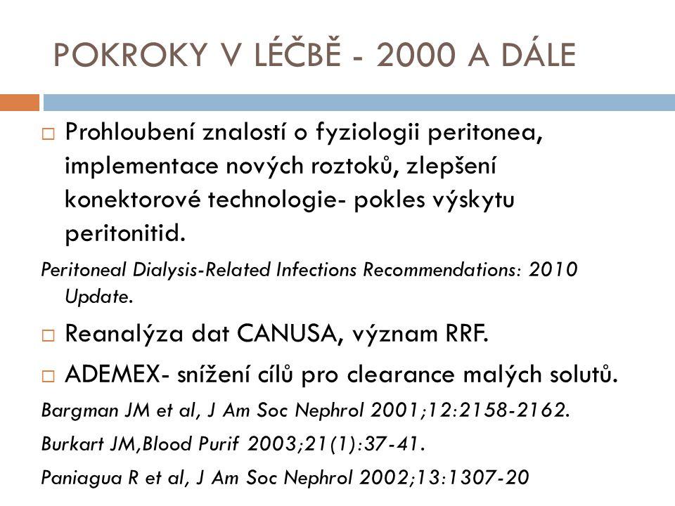 POKROKY V LÉČBĚ - 2000 A DÁLE
