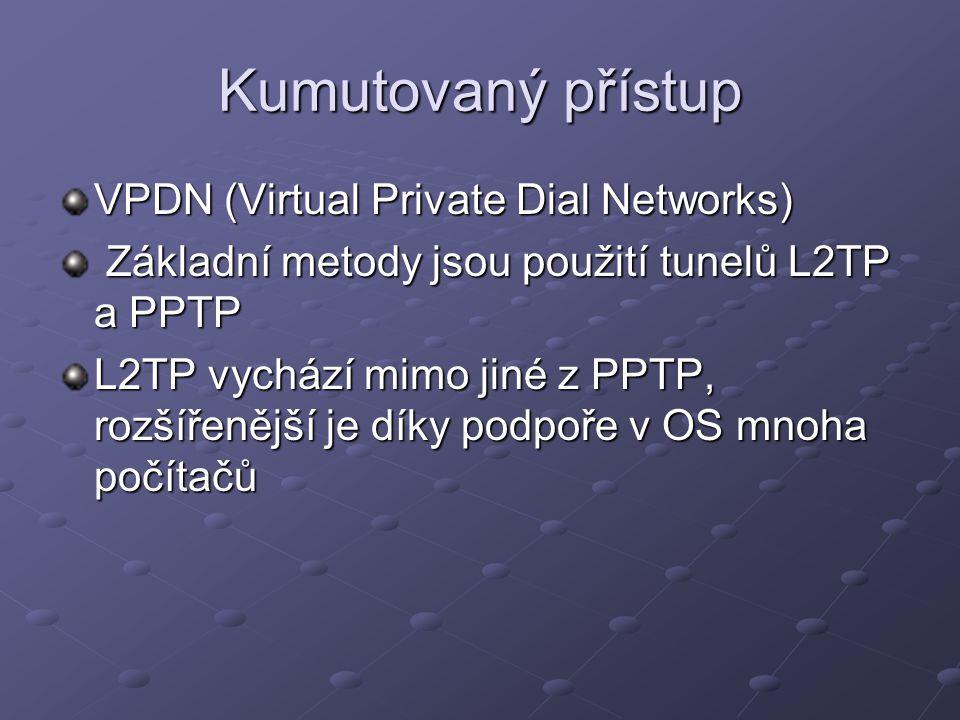 Kumutovaný přístup VPDN (Virtual Private Dial Networks)