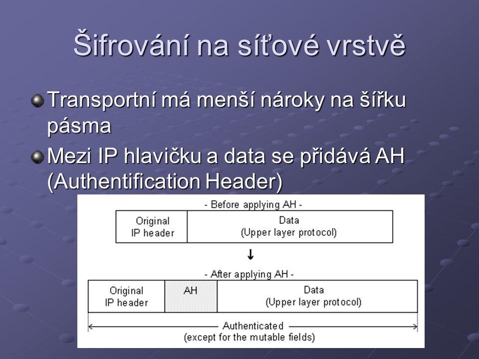 Šifrování na síťové vrstvě