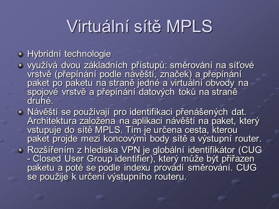 Virtuální sítě MPLS Hybridní technologie