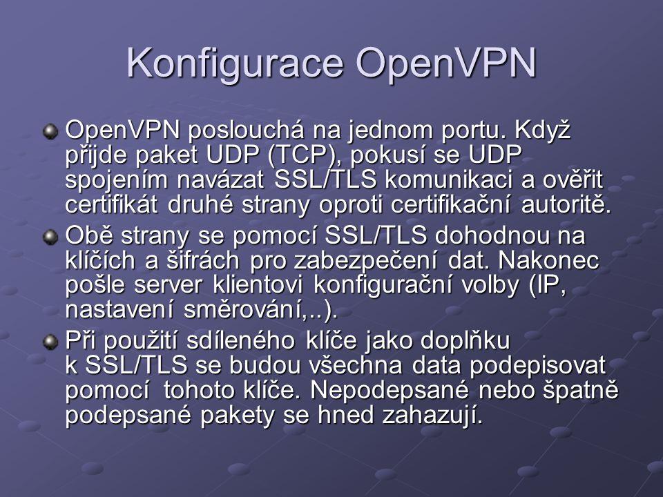 Konfigurace OpenVPN