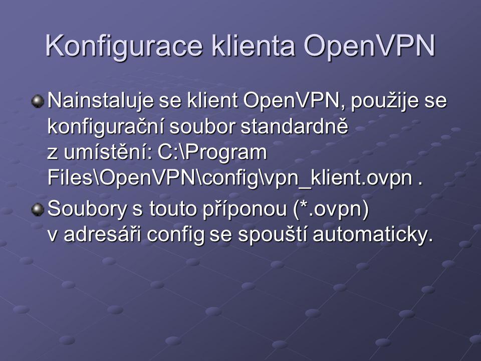 Konfigurace klienta OpenVPN