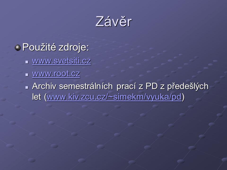 Závěr Použité zdroje: www.svetsiti.cz www.root.cz