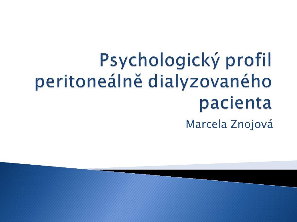 Psychologický profil peritoneálně dialyzovaného pacienta