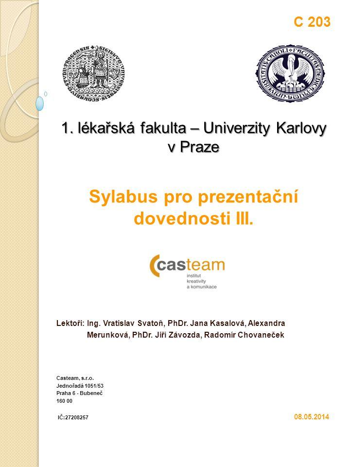 Sylabus pro prezentační dovednosti III.