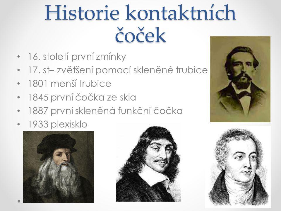 Historie kontaktních čoček