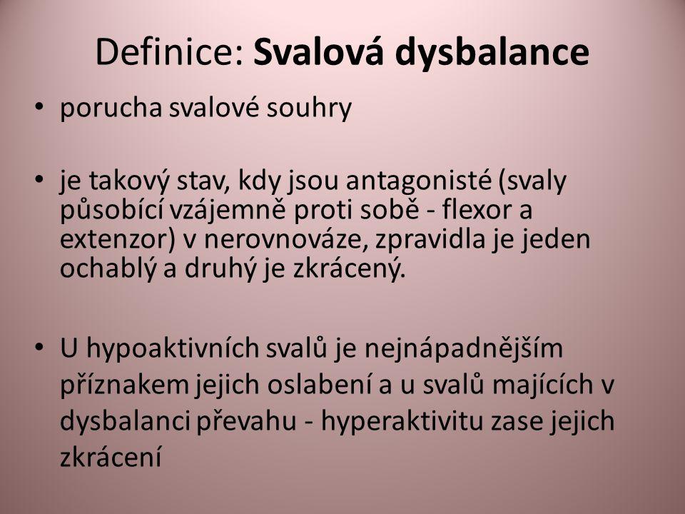 Definice: Svalová dysbalance