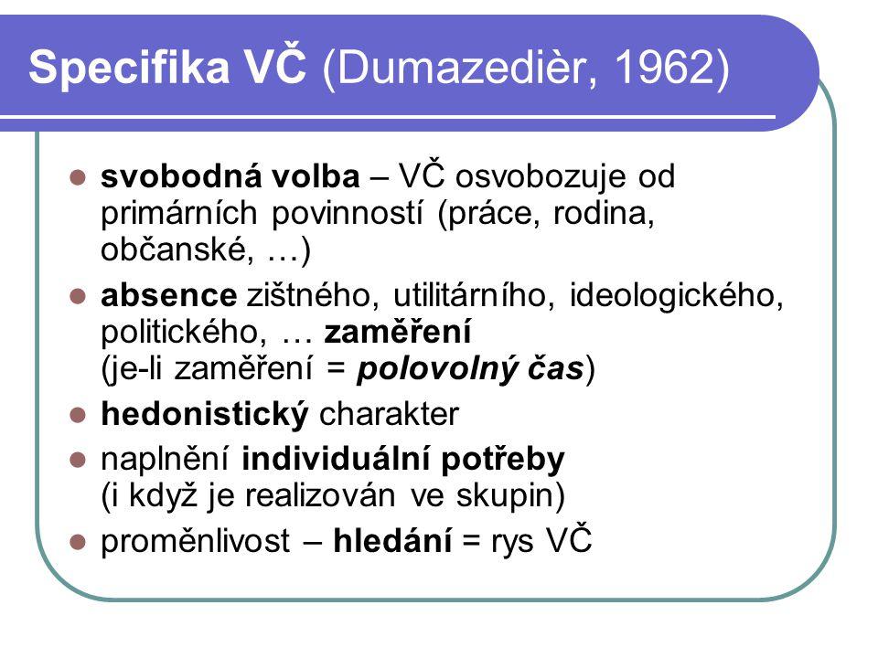 Specifika VČ (Dumazedièr, 1962)
