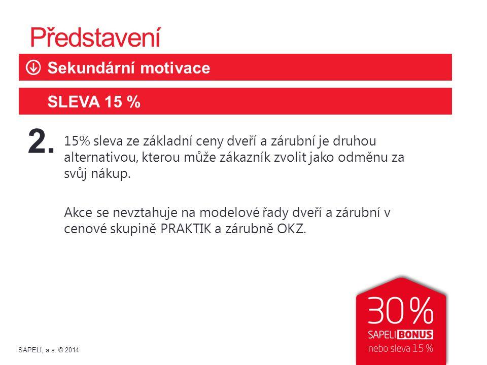 2. Představení Sekundární motivace SLEVA 15 %