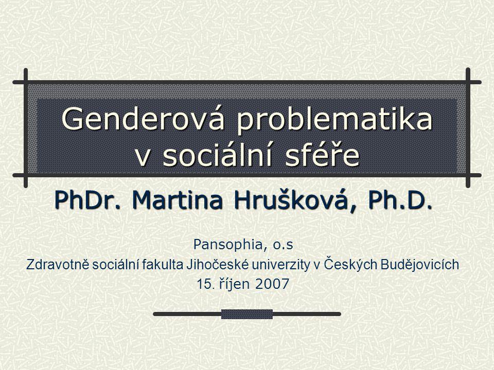 Genderová problematika v sociální sféře