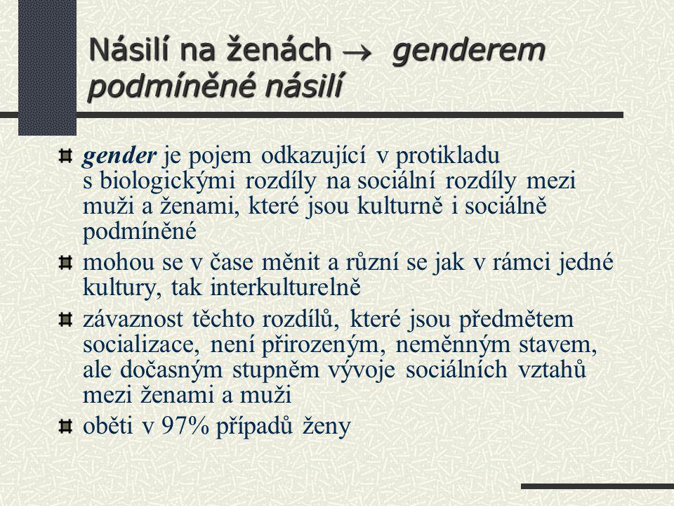 Násilí na ženách  genderem podmíněné násilí