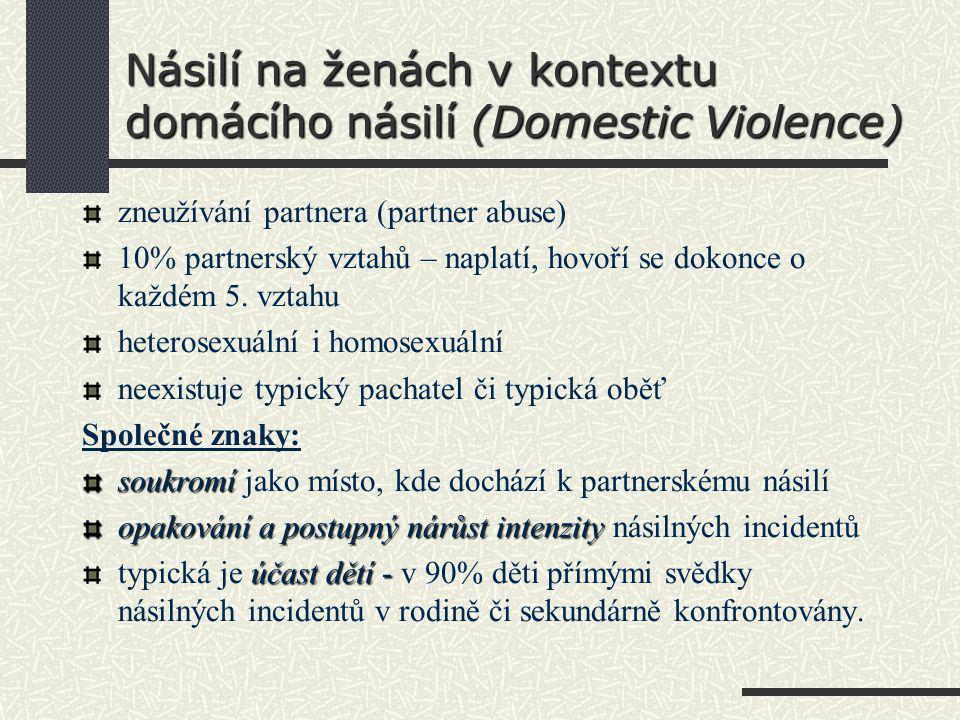 Násilí na ženách v kontextu domácího násilí (Domestic Violence)
