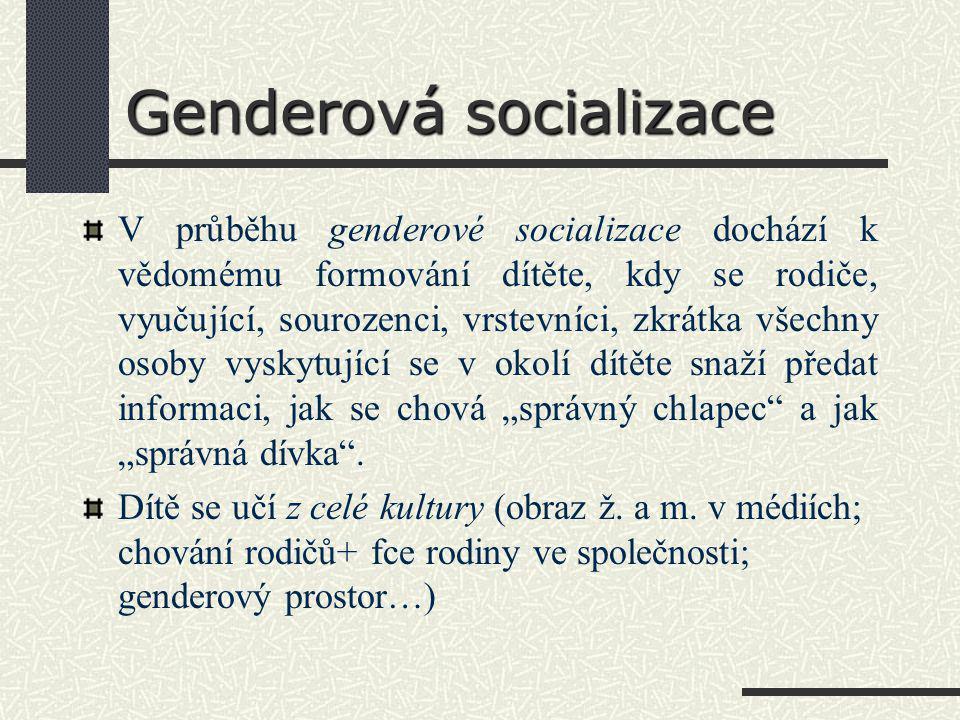 Genderová socializace