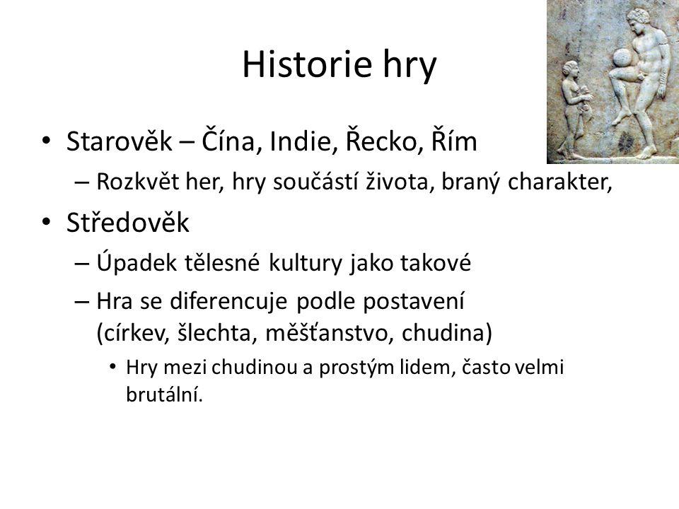 Historie hry Starověk – Čína, Indie, Řecko, Řím Středověk