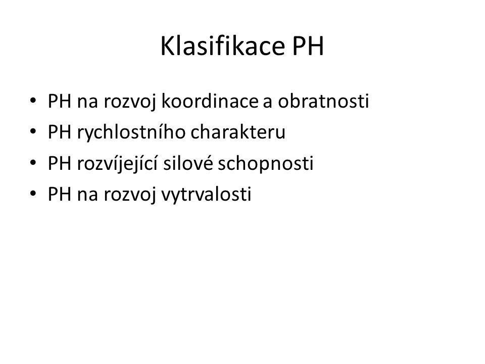 Klasifikace PH PH na rozvoj koordinace a obratnosti