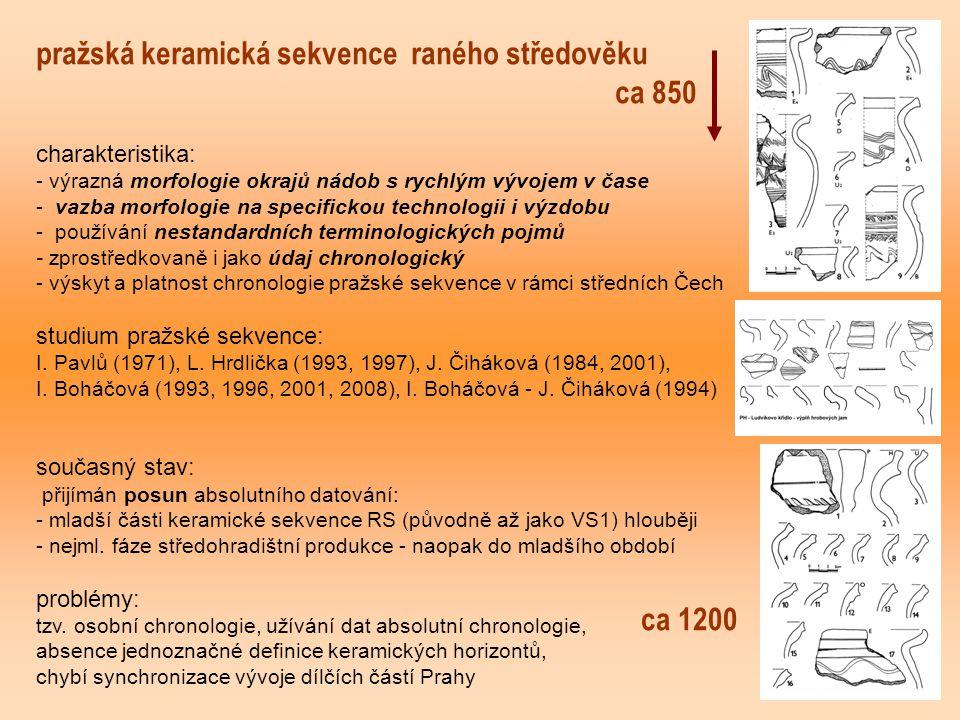 pražská keramická sekvence raného středověku ca 850